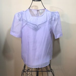 Puffed sleeve blouse